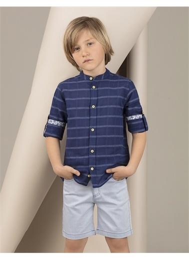 Ollie & olla Lacivert Hakim Yakalı Erkek Çocuk Gömlek Lacivert